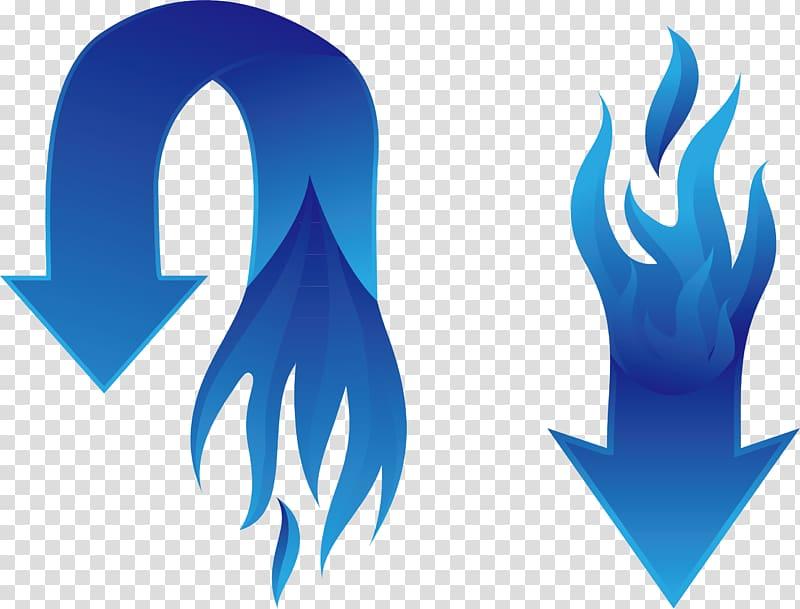 Blue Arrow Flame, arrow transparent background PNG clipart.