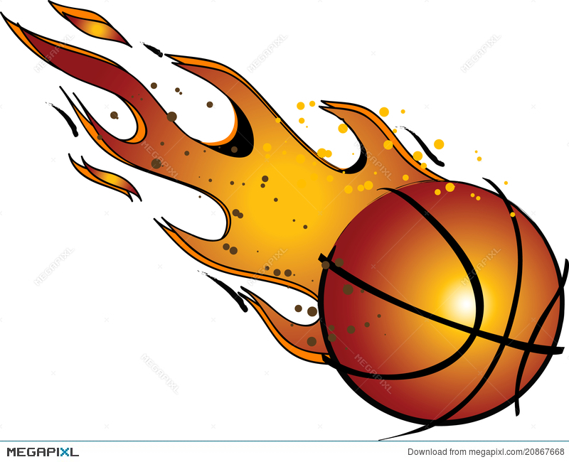 Flaming Basketballvector / Clip Art Illustration 20867668.