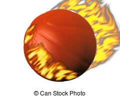 Stock Illustration of Flaming basketball.