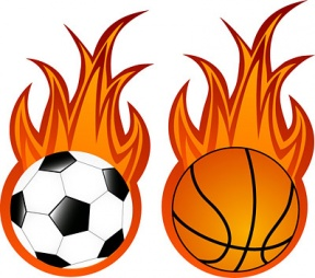 Flaming Basketball Clipart Clipartfest.