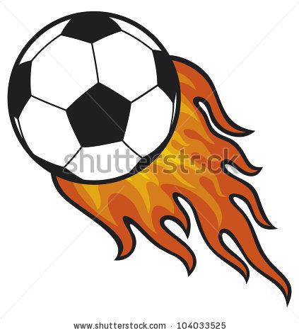 Flaming Soccer Ball Clip Art.