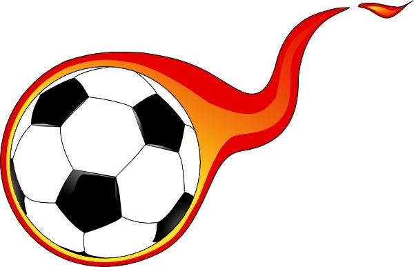 Flaming Soccer Ball clip art Free vector in Open office drawing.
