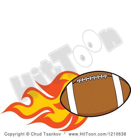 Flaming football clipart.