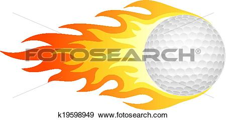 Clip Art of Flaming golf ball k19598949.