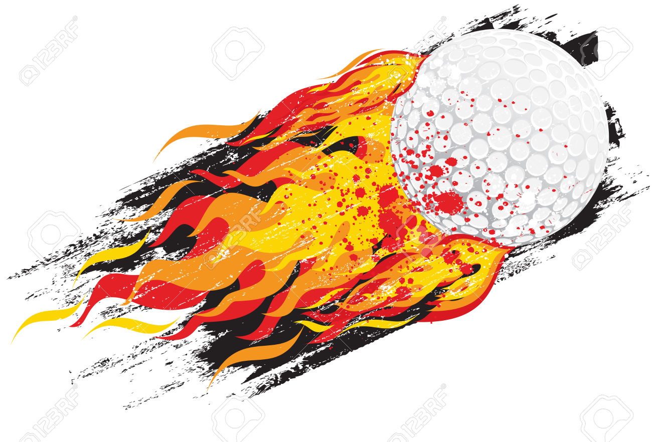 Flaming Golf Ball Royalty Free Cliparts, Vectors, And Stock.