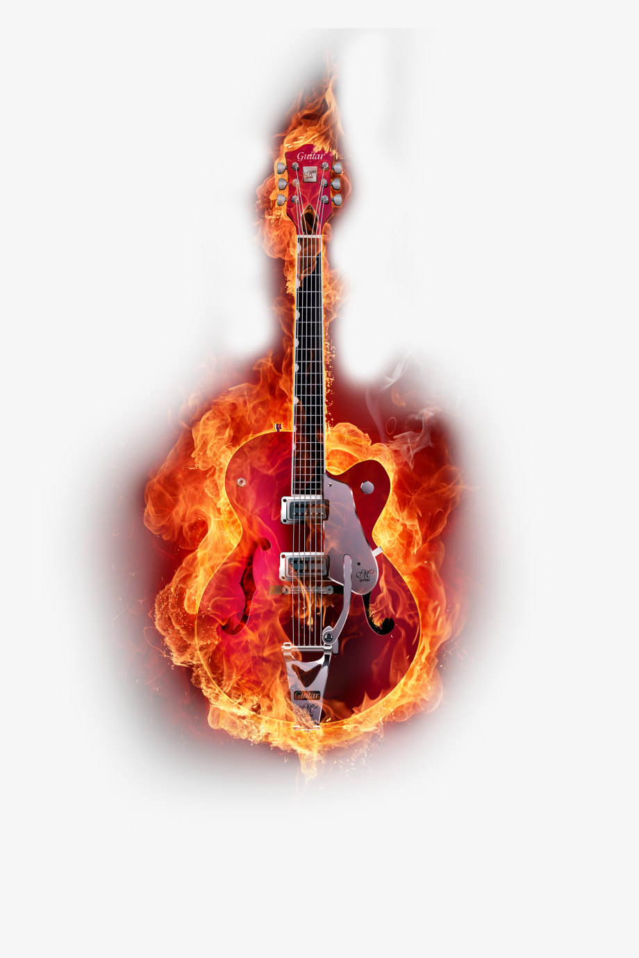 Graphic Instruments Guitar Design Flame Musical.