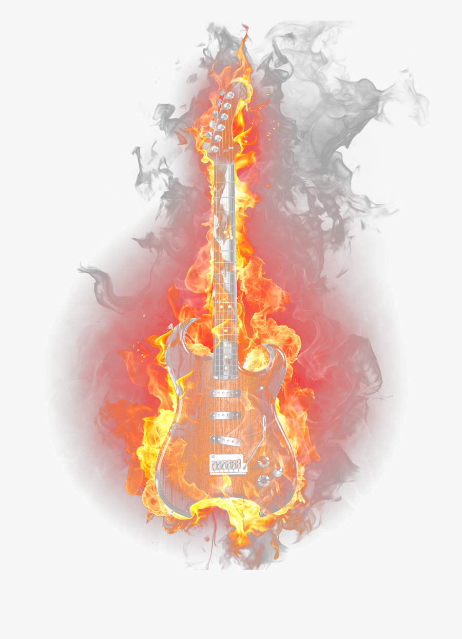 Fire Light Flame Guitar Burning Png Download Free Clipart.