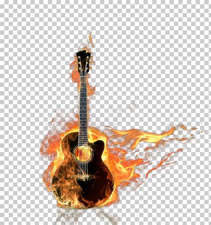 Bass guitar Acoustic guitar Flame, Musical Tone PNG clipart.