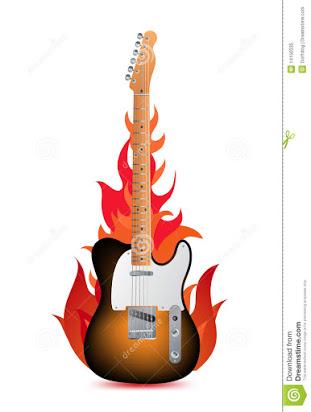 free flaming guitar clip art.