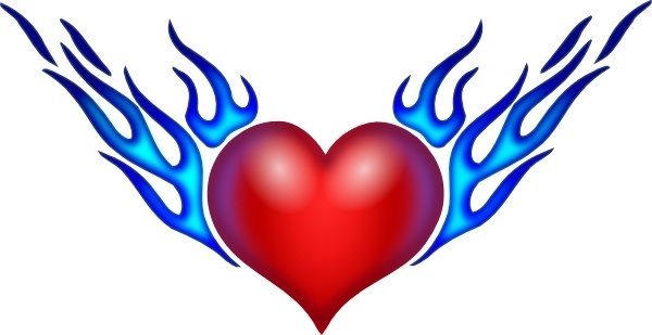 Burning Heart clip art Free vector in Open office drawing.