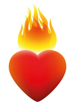 Flaming heart clipart 3 » Clipart Station.