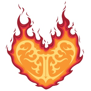 Download Heart With Flames Flaming Heart Tattoo Clipart PNG Free.