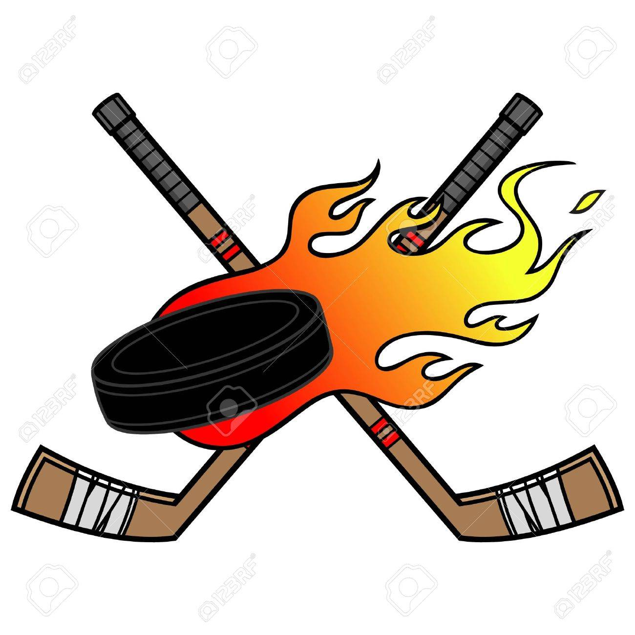 Flaming Hockey Puck.