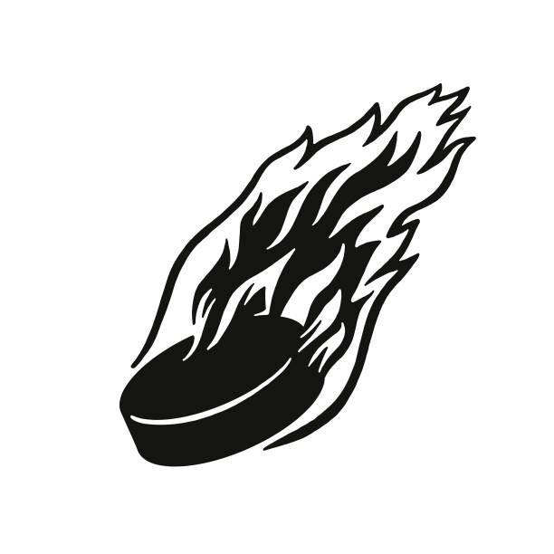 Best Flaming Hockey Puck Illustrations, Royalty.
