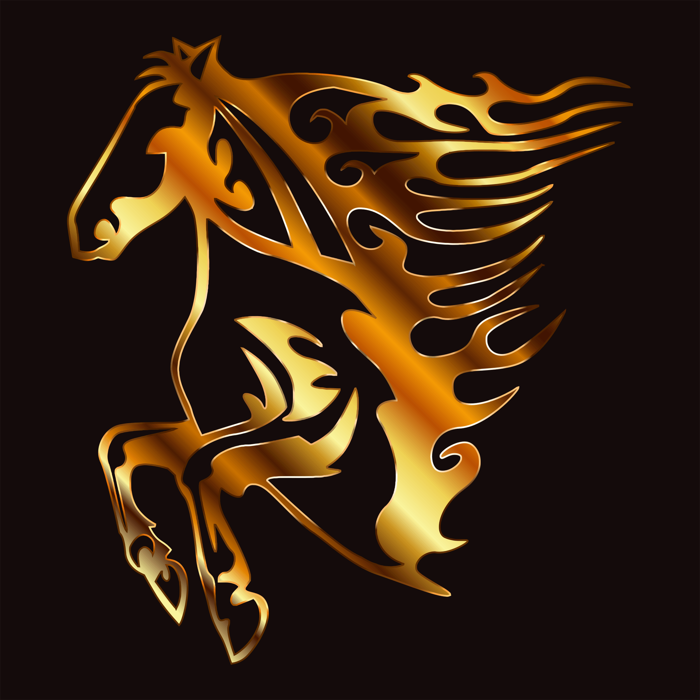 Flaming Horse Cliparts.