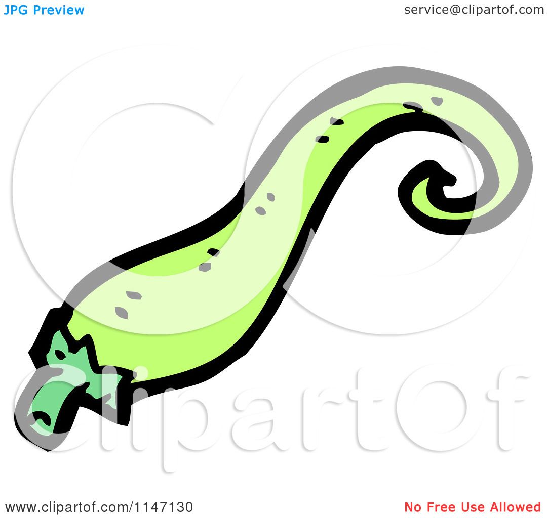 Cartoon of a Spicy Green Jalapeno Pepper.