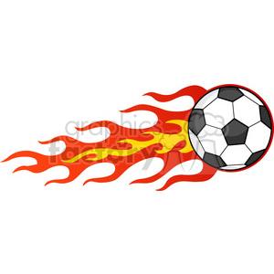 Royalty Free RF Clipart Illustration Flaming Soccer Ball clipart.  Royalty.