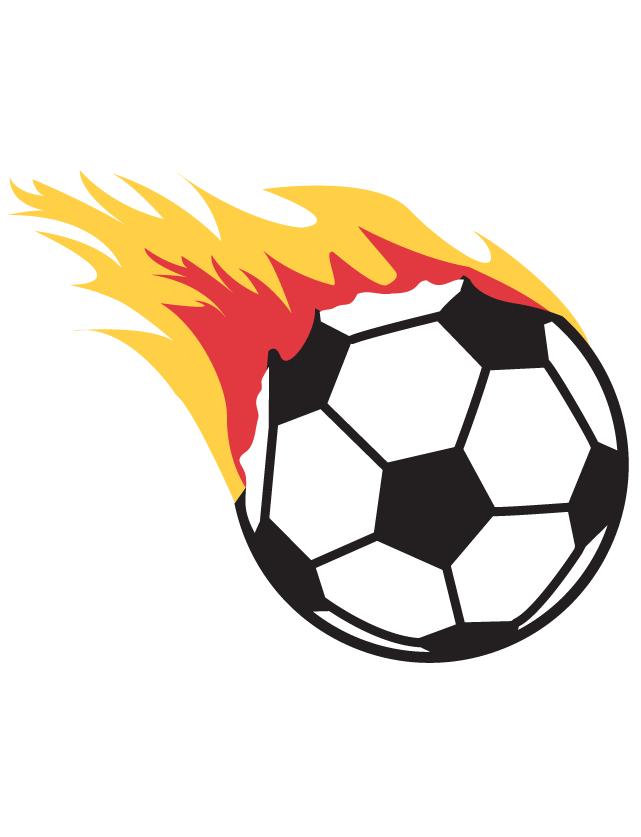 Flaming Soccer Ball Waterless Tattoo.