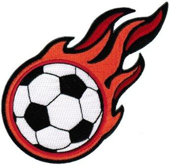 Clip art flaming soccer ball on dayasriogf top.