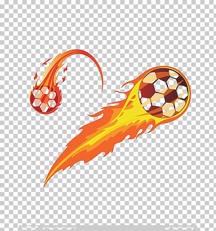 Soccer fire, flaming soccer ball illustration PNG clipart.