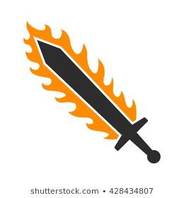 Flaming Sword Images, Stock Photos & Vectors.