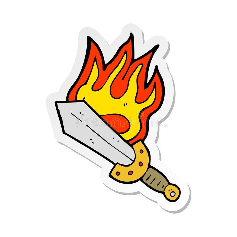 Flaming Sword Stock Illustrations.