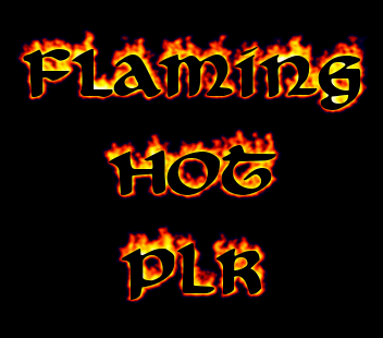 Flaming HOT PLR logo. Free logo maker..