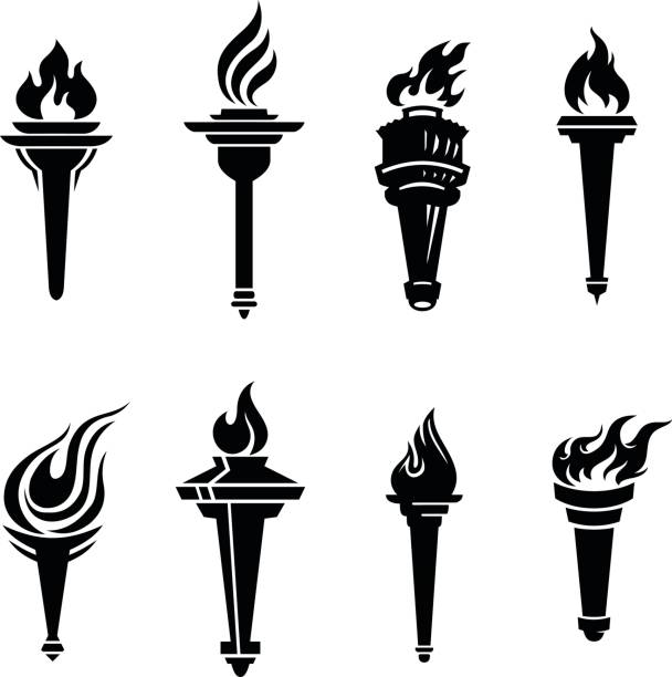 Best Flaming Torch Illustrations, Royalty.