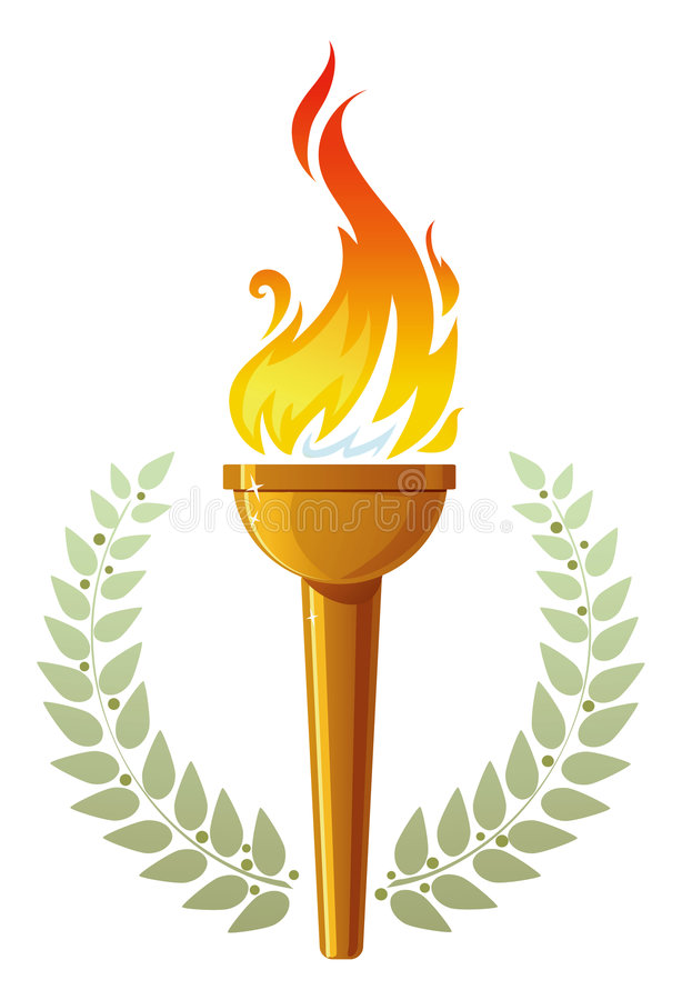 Flaming Torch Stock Illustrations.