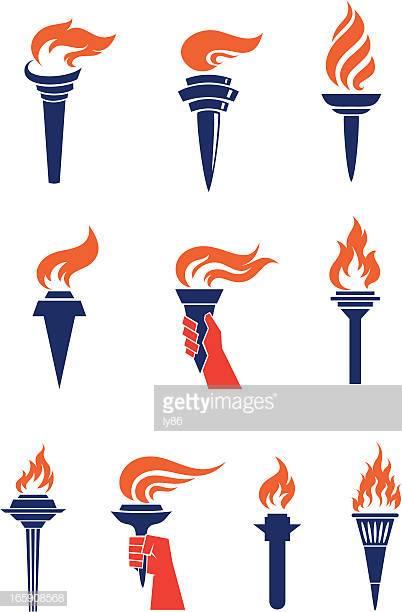 60 Top Flaming Torch Stock Illustrations, Clip art, Cartoons.