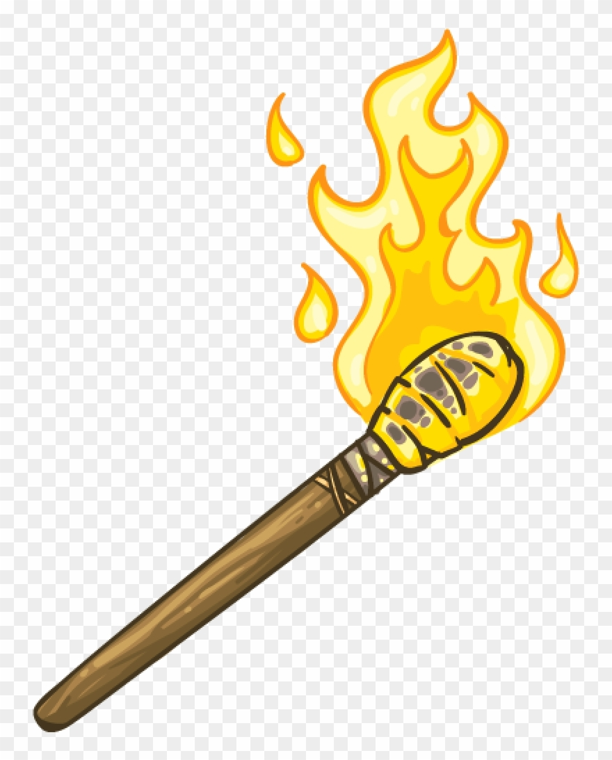 Flaming Torch Png Clipart (#2354729).