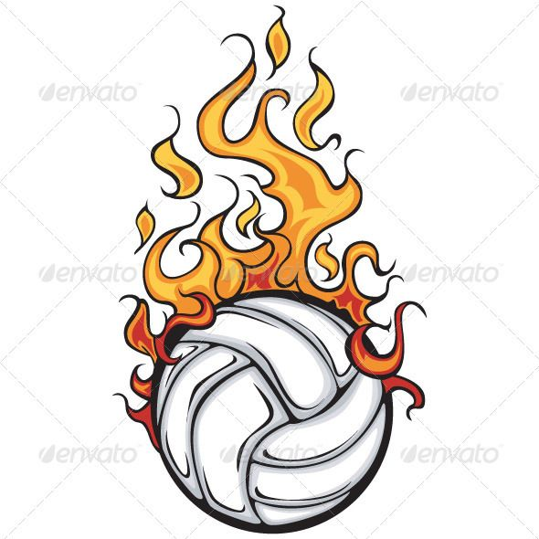 Volleyball Flaming Ball.