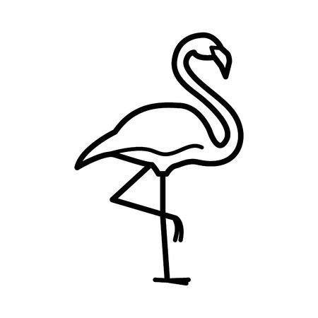 Flamingo clipart black and white 4 » Clipart Portal.