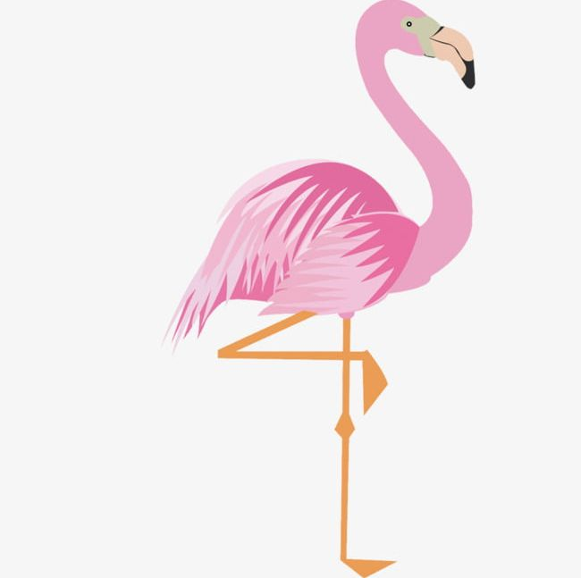 Pink Cartoon Flamingo 17 Material PNG, Clipart, 17 Clipart.