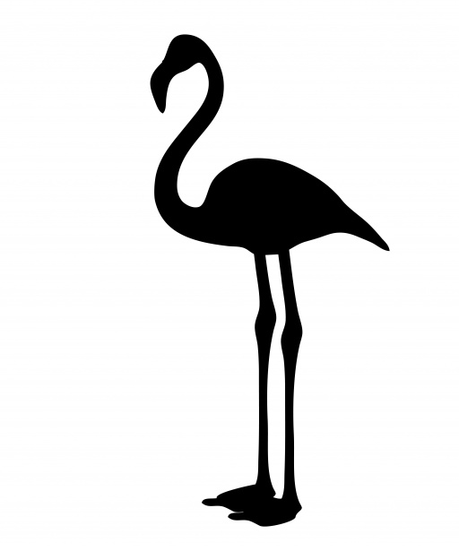 Flamingo Silhouette Clipart Free Stock Photo.