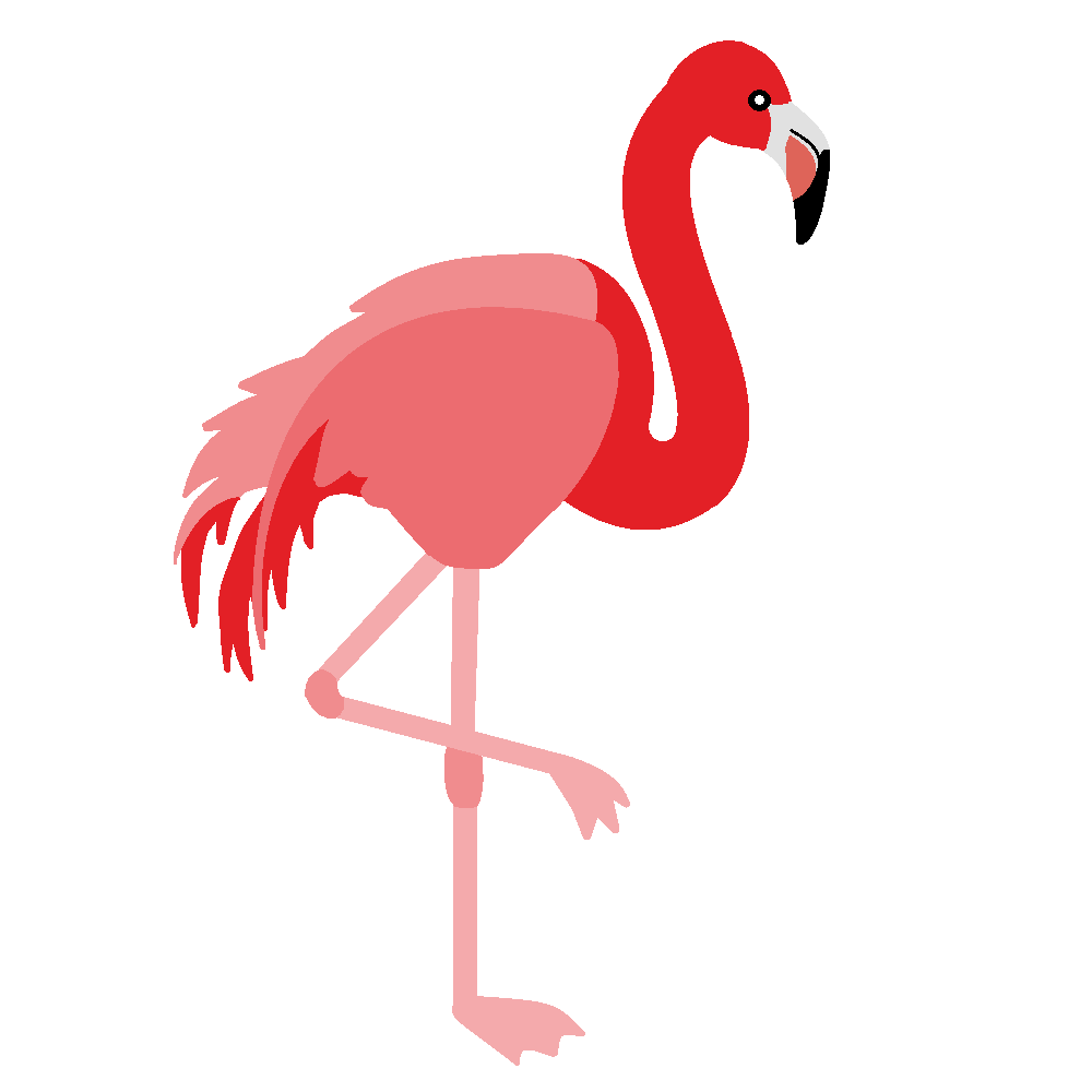 Flamingo clipart 6.