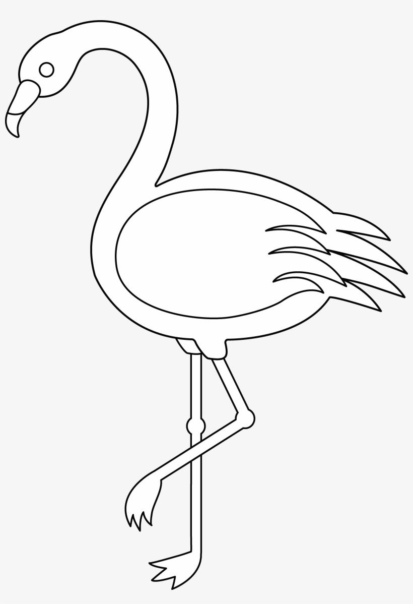Flamingo Clipart Outline Collection.