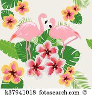 Flamingo flower Clip Art Illustrations. 354 flamingo flower.
