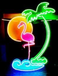 Miami Stan Neon Art Sculpture by BillieBoi on Etsy.
