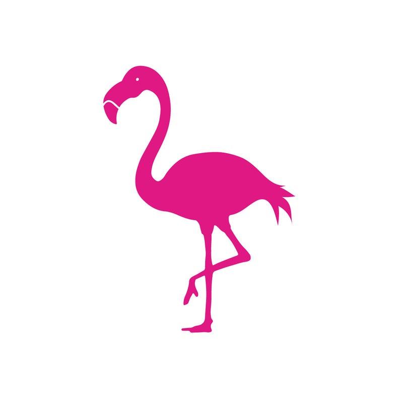 SVG Clipart Tropical Flamingo Silhouette.