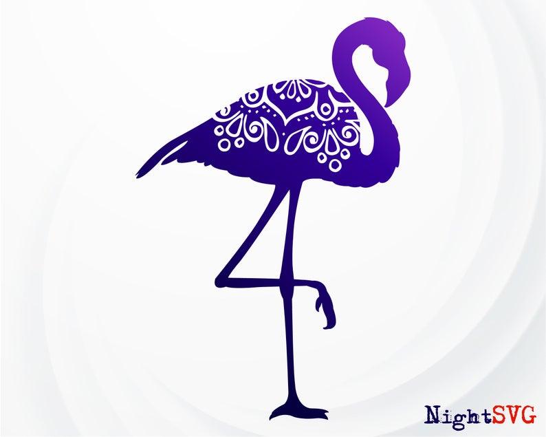 Flamingo Mandala svg, Flamingo Clipart, Flamingo Silhouette, Bird SVG,  Flamingo Zentangle, Flamingo for Cricut.