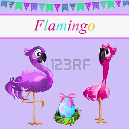 Flamingos Pair Stock Photos & Pictures. Royalty Free Flamingos.