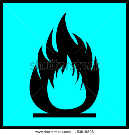 Flammability Sign N Circle Stock Vector 153618839.
