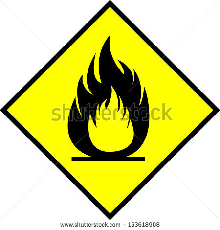 Flammable Sign Stock Photos, Royalty.