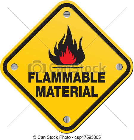 Vector Clip Art of danger flammable liquid.