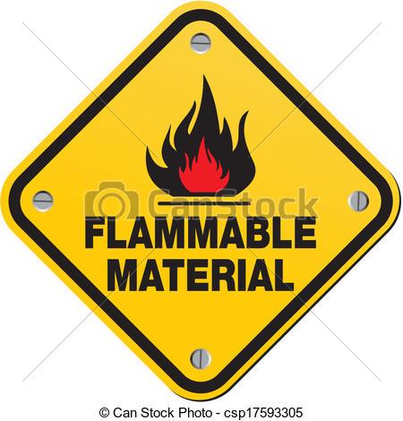 Vector Clip Art of danger flammable liquid.