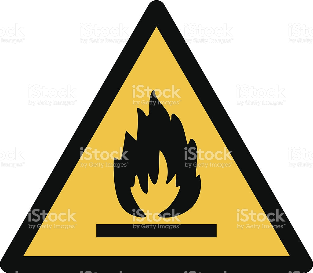 Flammable Sign Clip Art, Vector Images & Illustrations.