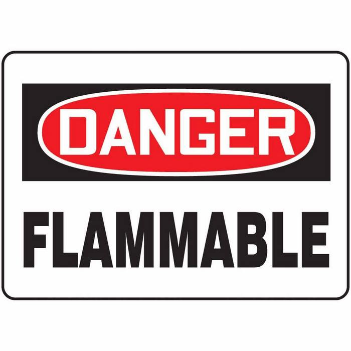 Flammable Sign.