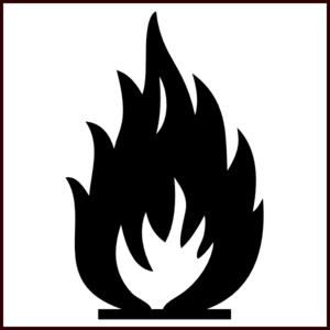 Bw Flammable Symbol Clip Art at Clker.com.
