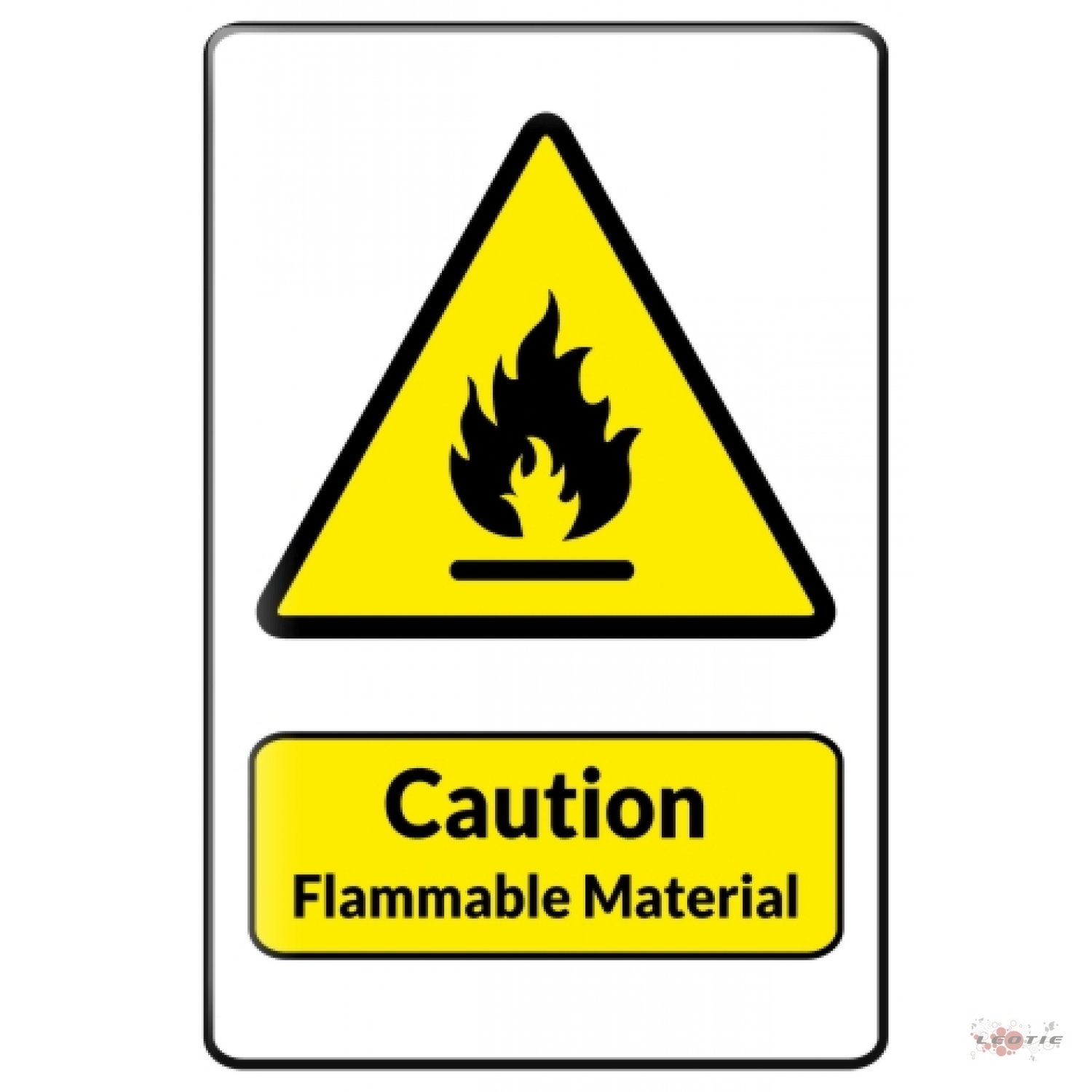 Warning Flammables Signs.